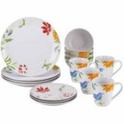 BonJour® Al Fresco Floral 16-pc. Dinnerware Set