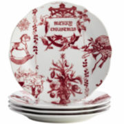 BonJour® Yuletide Set of 4 Salad Plates