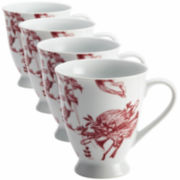 BonJour® Yuletide Set of 4 Mugs