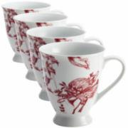 BonJour® Yuletide Set of 4 Mugs
