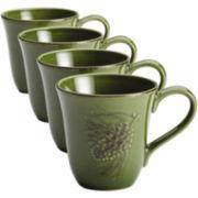 BonJour® Sierra Pine Set of 4 Mugs