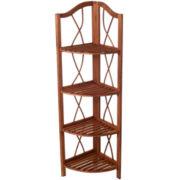 Lavish Home™ 4-Tier Folding Corner Display Shelf