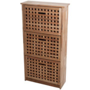 Lavish Home™ 3-Drawer Shoe Storage Cabinet