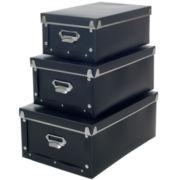 Sto-Away™ 3-pc. Collapsible Storage Box Set