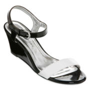 CL by Laundry Truth Ankle-Strap Wedge Sandals