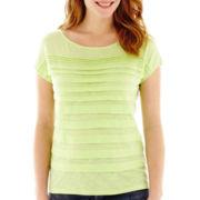Liz Claiborne® Short-Sleeve Tiered Tee