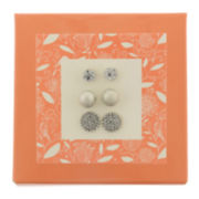 Capelli of New York Silver-Tone 3-pr. Stud Earring Set