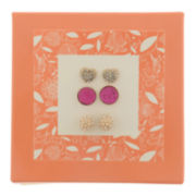 Capelli of New York Gold-Tone Fireball 3-pr. Stud Earring Set