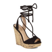 Call It Spring™ Treawen Ankle Tie Wedge Sandals