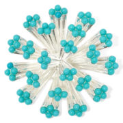 Liz Claiborne® Blue Stone Silver-Tone Flower Cluster Pin
