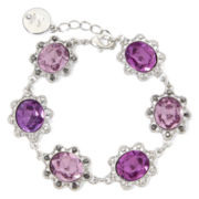 Liz Claiborne® Purple Stone and Silver-Tone Flex Bracelet