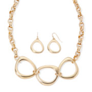 Liz Claiborne® Gold-Tone Necklace and Earrings Set
