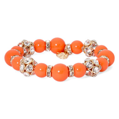 jcpenney.com | Monet® Orange and Gold-Tone Stretch Bracelet