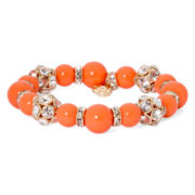 Monet® Orange and Gold-Tone Stretch Bracelet