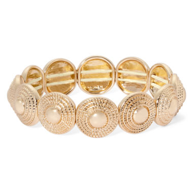jcpenney.com | Monet® Gold-Tone Textured Stretch Bracelet