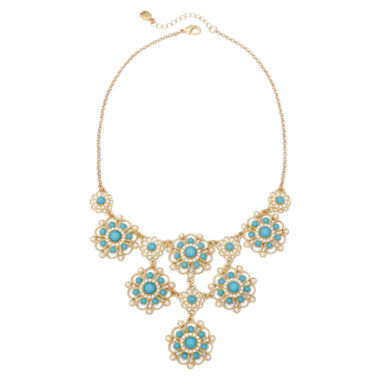 jcpenney.com | Monet® Aqua Stone Drama Necklace
