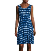 a.n.a® Sleeveless Print Fit-and-Flare Tank Dress