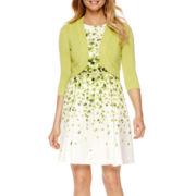R&K Originals® Elbow-Sleeve Floral Belted Jacket Dress - Petite
