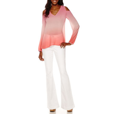 jcpenney.com | a.n.a® Cold-Shoulder Shirt or Flare-Leg Jeans
