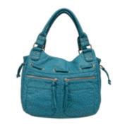 St. John's Bay® Ostrich-Look Double Strap Shoulder Bag