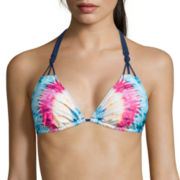 Arizona Fit To Be Tie-Dye Triangle Swim Top - Juniors