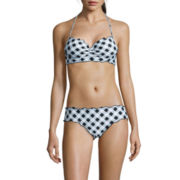 Arizona® Gingham It Up Midkini Swim Top or Cinched Hipster Bottoms - Juniors