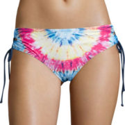 Arizona Fit To Be Tie-Dye Lace-Up Hipster Swim Bottoms - Juniors