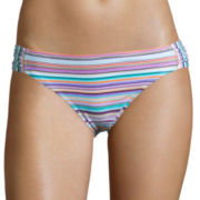 Arizona® Faded Rose Striped Hipster Swim Bottoms