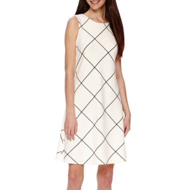 jcpenney.com | Tiana B. Sleeveless Trapeze Dress - Tall