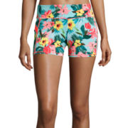 Self Esteem® Botanical Print Yoga Shorts