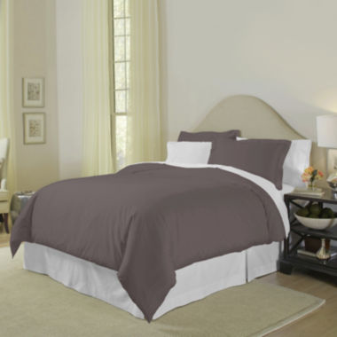 jcpenney.com | Pointehaven 400tc 3-pc. Duvet Cover Set
