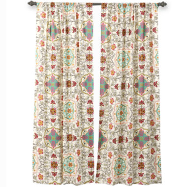 jcpenney.com | Greenland Home Fashions Esprit Spice 2-Pack Rod-Pocket Curtain Panels