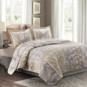 Sandalia Hand-Pieced Reversible 3-pc. Quilt Set