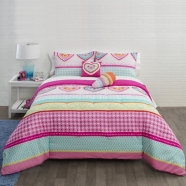 jcpenney.com | JCPenney Home™ Hearts and Stripes Comforter Set