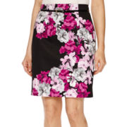Worthington® Belted High-Waisted Pencil Skirt