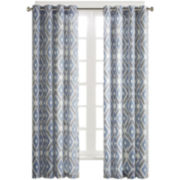 Stetsen Diamond-Printed Grommet-Top Curtain Panel