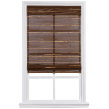 jcpenney.com | Custom Cordless Textured Bamboo and Reed Roman Shade