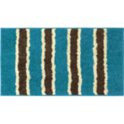 Bathtopia Ace Microfiber Stripe Bath Rug Collection