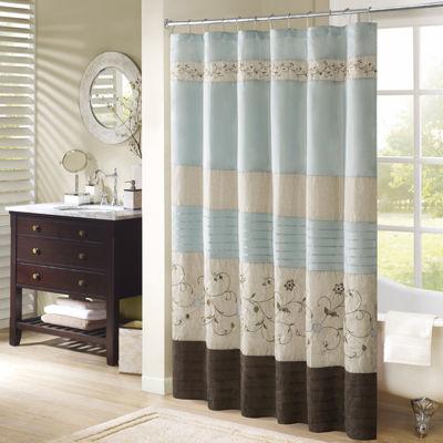 Delightful Madison Park Davenport Embroidered Shower Curtain