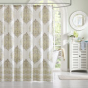 Saratoga Cotton Damask Shower Curtain