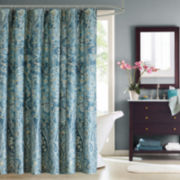 Windsor Cotton Paisley Shower Curtain