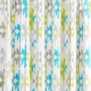 INK+IVY Sierra Printed Cotton Shower Curtain