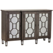 Bombay Hex Fret Mirrored Console Table