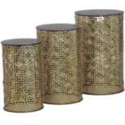 Bombay 3-pc. Metal Nesting Tables