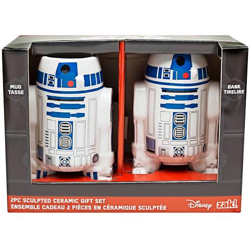 Disney Star Wars® Classic R2-D2 Sculpted Bank and Mug Set