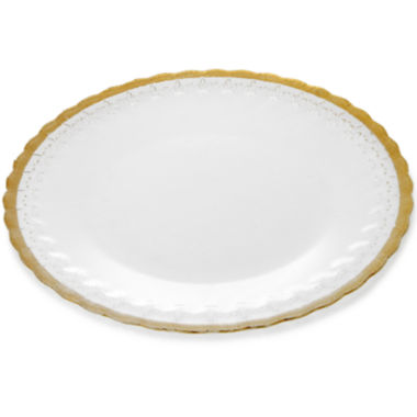 jcpenney.com | Set of 4 Plates with Gold Decoration