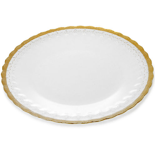 Set of 4 Plates with Gold Decoration