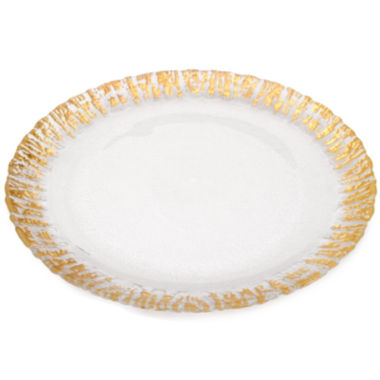 jcpenney.com | Set Of 4 Deep Plates with Gold Scalloped Edge