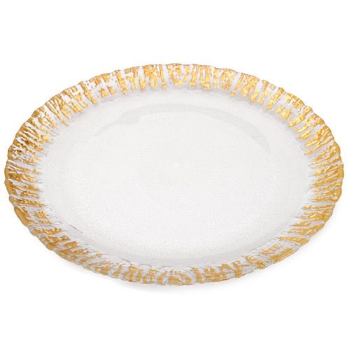 Set Of 4 Deep Plates with Gold Scalloped Edge