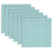 Design Imports Houndstooth Set of 6 PVC Placemats